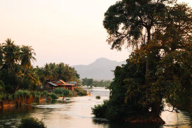 Highlight Weltreise: Sonnenuntergang an den 4.000 Inseln - zwischen Don Det und Done Kone