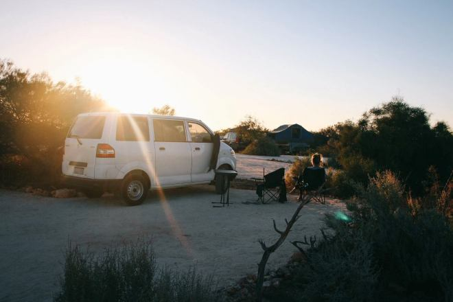 Roadtrip Westaustralien Campingplatz Shark Bay