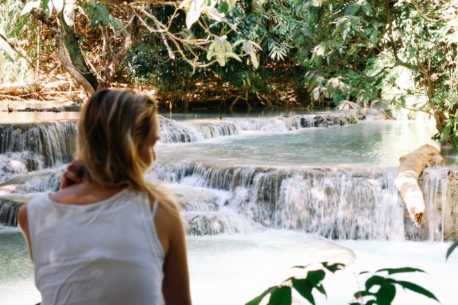 Laos Backpacking Route: Kuang Si Wasserfall