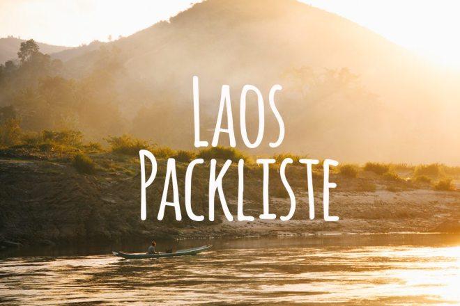 Laos Packliste für eine Laos Rundreise