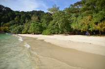 Eigentlich waren wir auf Pangkor in Malaysia fast nur an unserem Lieblingsstrand Coral Beach
