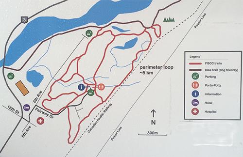 Golf Course Ski MAp