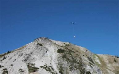 polar Peak Chair heli drop