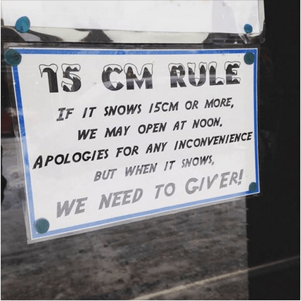 Giver 15 cm rule