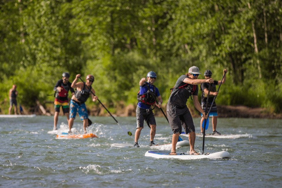 Standup Paddle Board River Race
