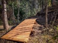 Fernie trails bridge