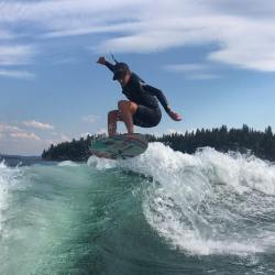 East Kootenay Wake Surfers Put in Strong Performance