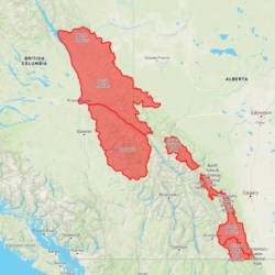Special Public Avalanche Warning for Mountains of Eastern BC and Western Alberta