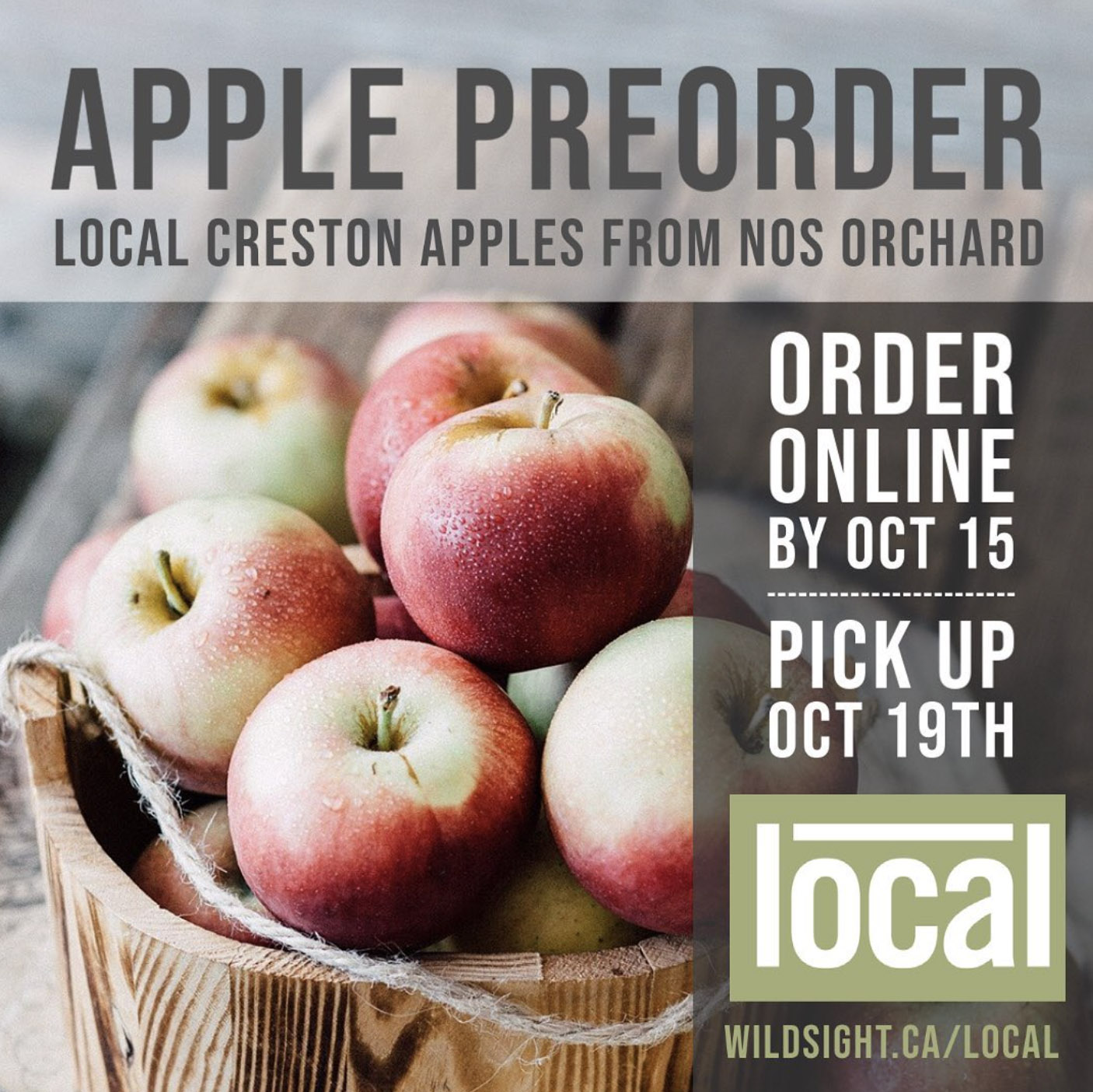 Preorder Apples at Local