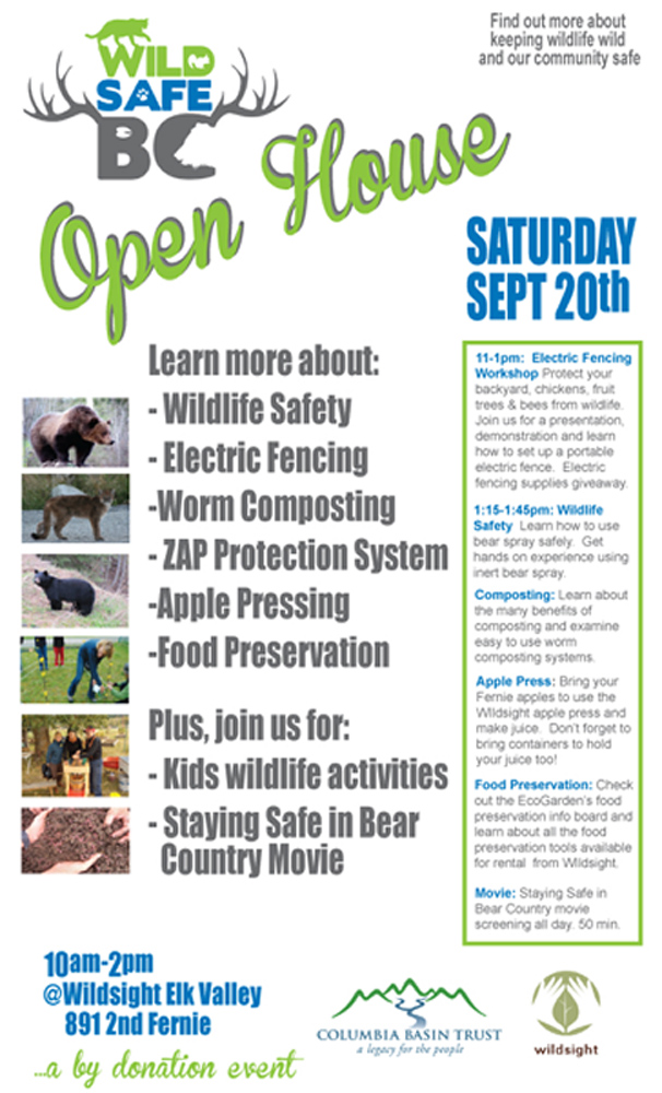 wildsafe open house