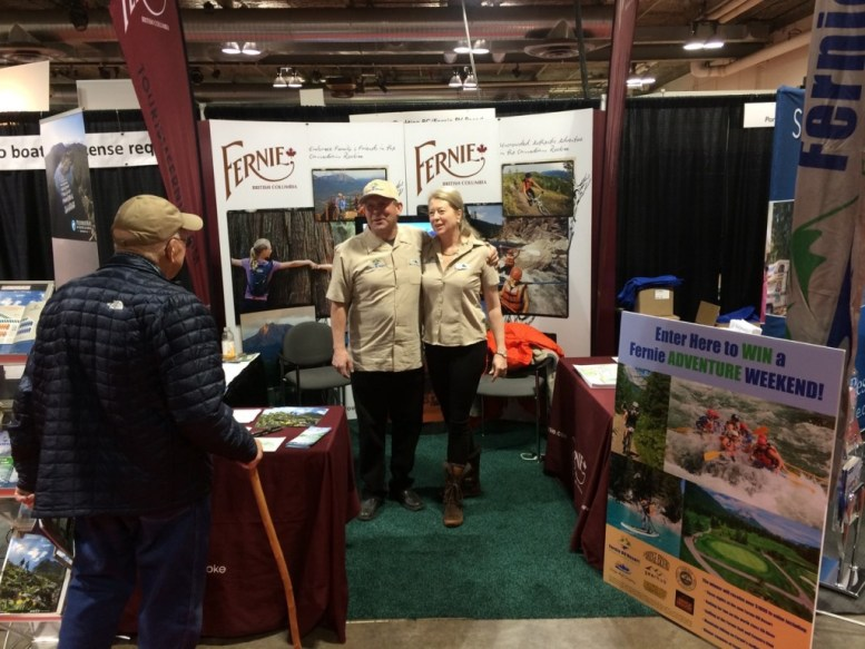 Reto and Shelley Barrington at the Calgary RV Show