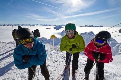 Polar PEak skiers