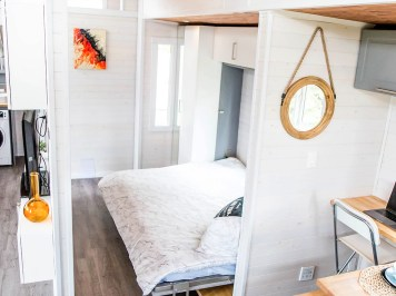 Fernie tiny home bed