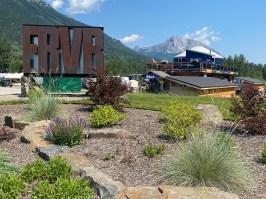 Fernie RV Resort entrance garden