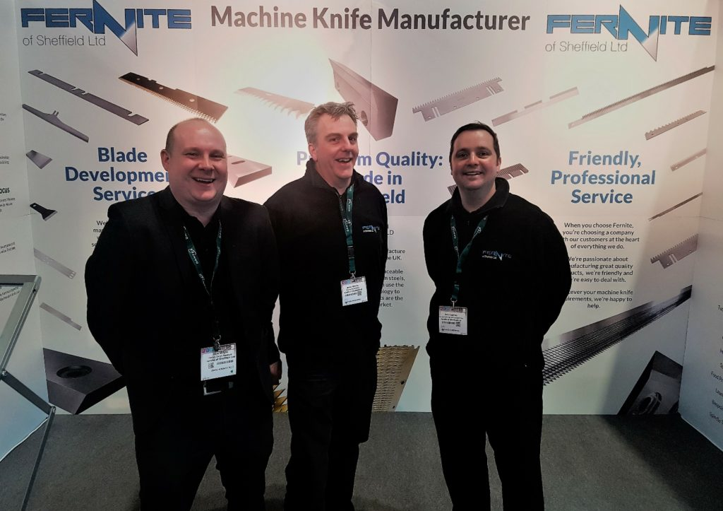 Fernite at EMPACK 2018 - Exhibiting our range of UK Manufactured machine knives, granulator blades and doctor blades - all made in Sheffield
