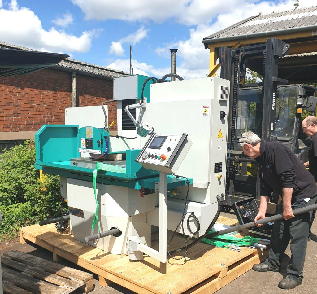 A new surface grinder arrives at Fernite Works - part of our huge investment in machinery