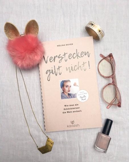 """Melina Royer Verstecken gilt nicht! Wie man als Schüchterner die Welt erobert Von der Autorin des Blogs """"Vanilla Mind"""" Kailash Verlag"""