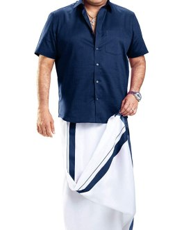 Men's Pure Cotton Double Dhoti