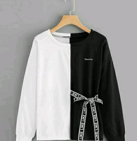 Black And White Hoodie For Girls : 01