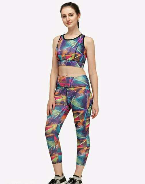 Yoga Workout Seamless 2 Piece Upper and Lower