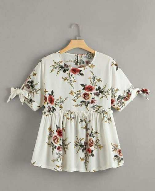 Floral White Printed Top