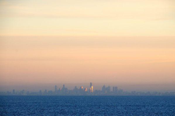 Sonnenaufgang in Melbourne
