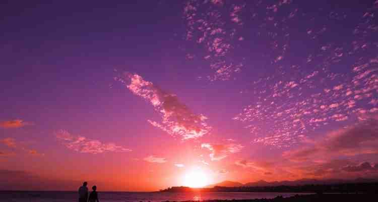14 Violett Sunset Playa del Carmen Lanzarote1