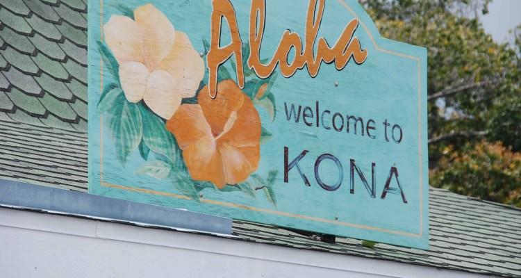 00 Welcome to Kona Maui Hawaii USA