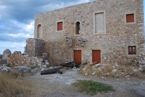 Kanonen Fortezza von Rethymnon Kreta Griechenland