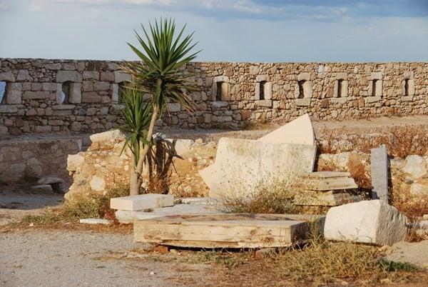 Ruinen Fortezza von Rethymnon Kreta Griechenland