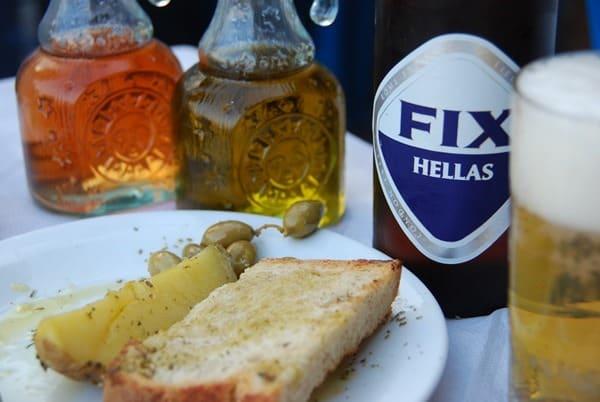 Dinner Taverna Knossos Rethymnon Kreta Griechenland