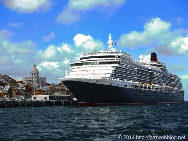 Hafenrundfahrt Lissabon Portugal Kreuzfahrtschiff Queen Victoria Cunard Line