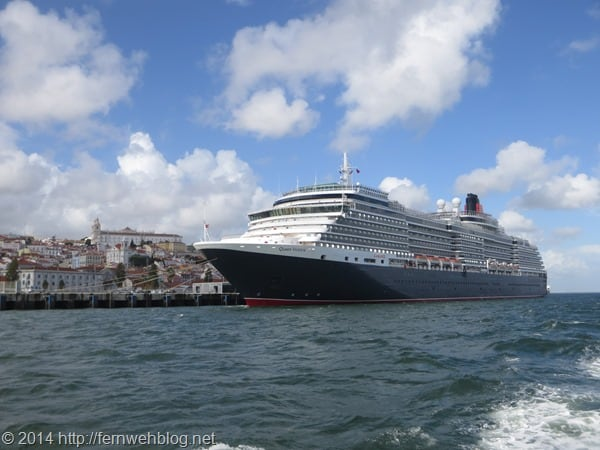 Hafenrundfahrt Lissabon Portugal Kreuzfahrtschiff Queen Victoria