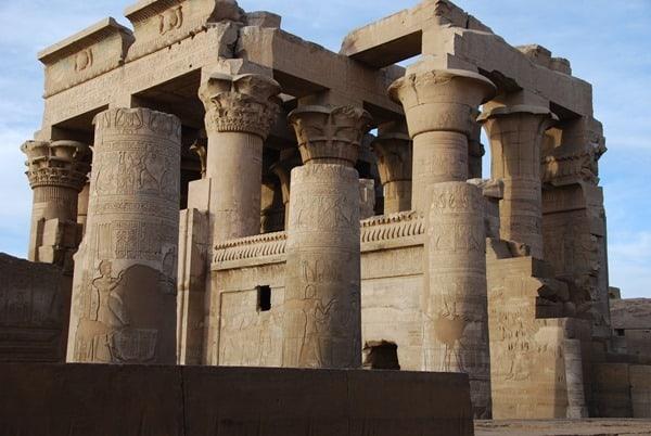 Doppeltempel von Kom Ombo Säulen Ägypten