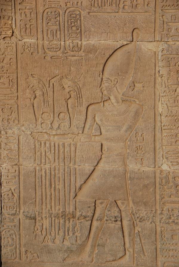 Doppeltempel von Kom Ombo Pharao Relief Säule Ägypten