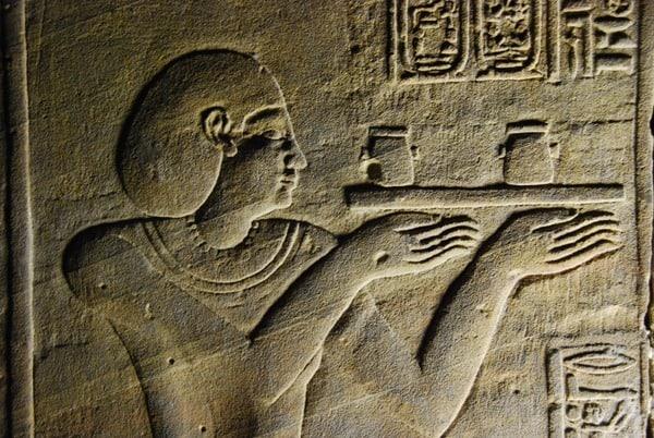 Horus Tempel von Edfu Relief Ägypten