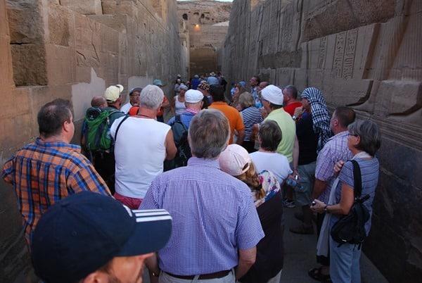 Doppeltempel von Kom Ombo Touristen Ägypten
