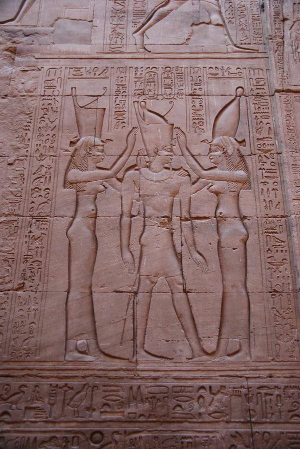 Horus Tempel von Edfu Krönung des Pharao als Relief Ägypten