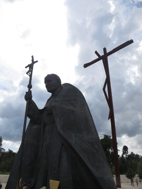 Wallfahrtsort Fatima Portugal Papst Johannes Paul II Statue