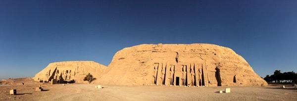 Panorama Abu Simbel menschenleer Ägypten Urlaub Nilkreuzfahrt