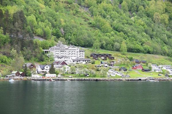 Geirangerfjord Norwegen Hotel Campingplatz