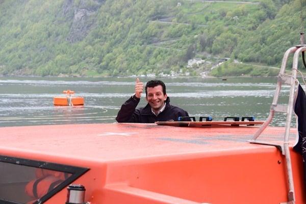 Geirangerfjord Nordland-Kreuzfahrt MSC Sinfonia Tenderboot Norwegen Crew