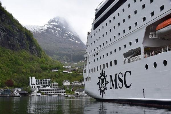 Geiranger Geirangerfjord Nordland-Kreuzfahrt MSC Sinfonia Norwegen