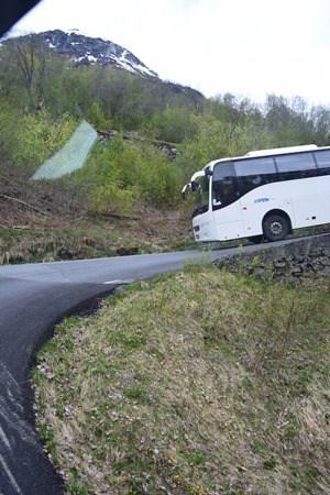 Busfahrt Haarnadelkurven Stalheim Norwegen
