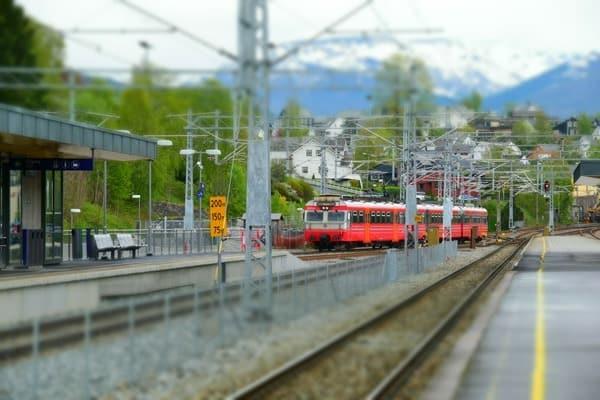 Bahnhof Voss Vossevangen Norwegen