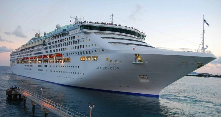 01 Kreuzfahrtschiff Sea Princess Tortola British Virgin Islands Karibik