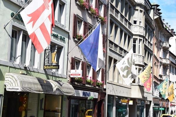 Zürich Sehenswürdigkeiten Schweiz Einkaufsstrasse Rennweg