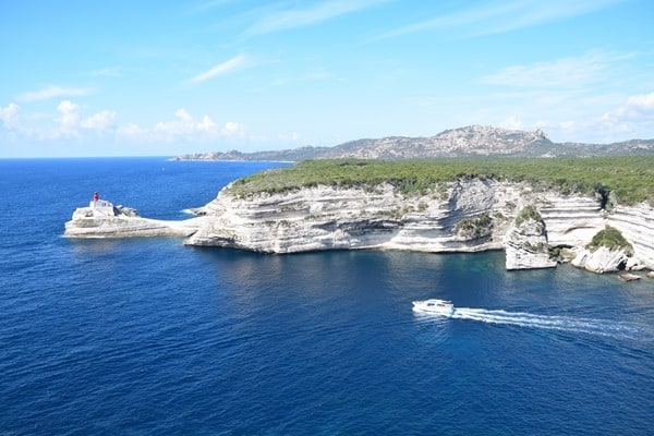 Bonifacio Korsika Leuchtturm Calanque de Fazio Frankreich