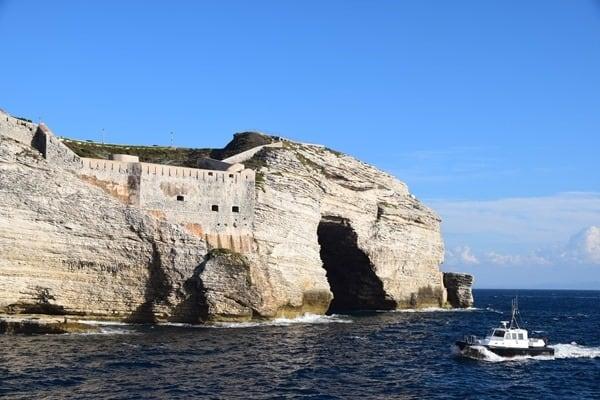 Bonifacio Korsika Festung weiße Klippen Frankreich