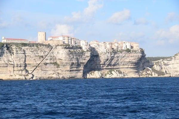 Bonifacio Korsika Frankreich Kreidefelsen Kalksteinklippen